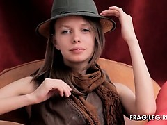 Russian teen Gloria strips...